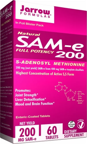 Jarrow Formulas Sam-e Tablets 200mg 60 Count Perspective: front
