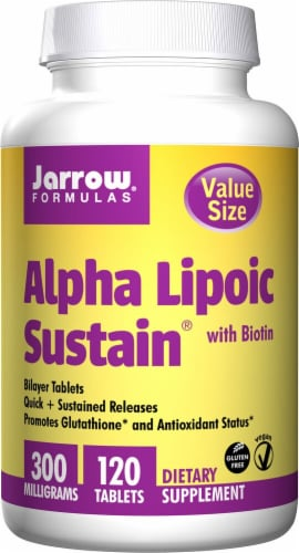 Jarrow Formulas  Alpha Lipoic Sustain® with Biotin Perspective: front