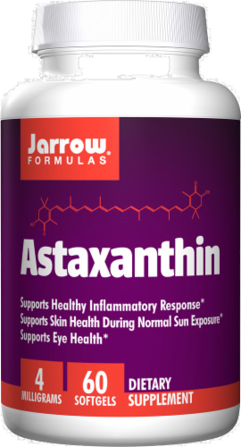 Jarrow Formulas Astaxanthin Supplement 4mg Softgels 60 Count Perspective: front