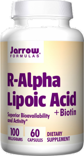 Jarrow Formulas R-Alpha Lipoic Acid with Biotin 100 mg Perspective: front