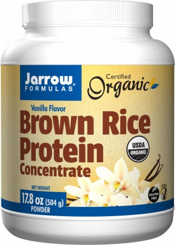 Jarrow Formulas  Organic Brown Rice Protein Concentrate   Vanilla Perspective: front