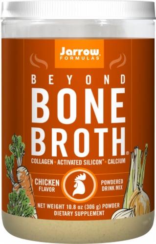 Jarrow Formulas Beyond Bone Broth Chicken Flavor Powdered Drink Mix Perspective: front
