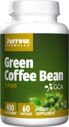Jarrow Formulas Green Coffee Bean Extract Capsules 400mg Perspective: front