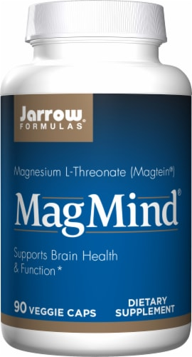 Jarrow Formulas Mag Mind Supplement Capsules Perspective: front