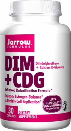 Jarrow Formulas  DIM + CDG Enhanced Detoxification Formula Perspective: front