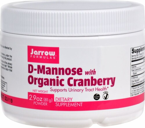 Jarrow Formulas  D-Mannose with Organic Cranberry Perspective: front