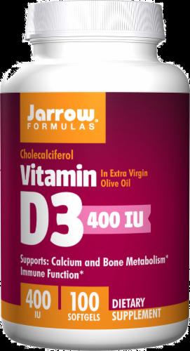 Jarrow Vitamin D-3 400IU Softgels Perspective: front