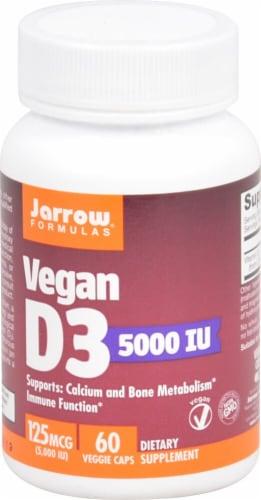 Jarrow Formulas Vegan D3 5000iu Veggie Caps Perspective: front