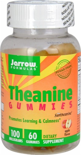 Jarrow Formulas  Theanine Gummies   Apple Perspective: front