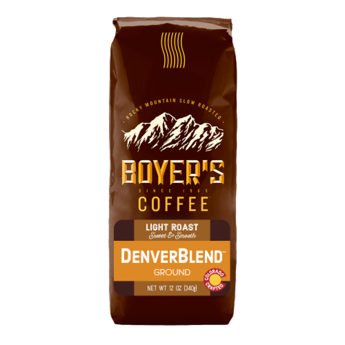 Boyer's Coffee Denver Blend Light Roast Ground Coffee Perspective: front