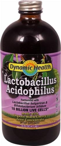 Dynamic Health Lactobacillus Acidophilus Black Cherry Perspective: front