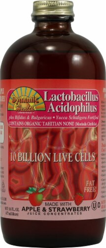 Dynamic Health Lactobacillus Acidophilus Apple Strawberry Perspective: front