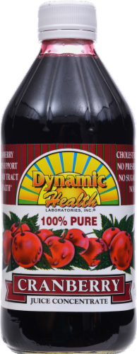 Dynamic Health 100% Pure Cranberry Juice Concentrate Perspective: front