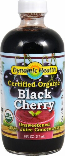 Dynamic Health Organic Unsweetened Black Cherry Juice Concentrate Perspective: front