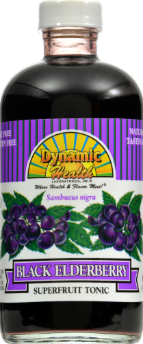 Dynamic Health Black Elderberry Superfruit Tonic Perspective: front