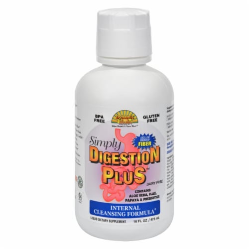 Dynamic Health Simply Digestion Plus Dietary Supplement Liquid Formula Perspective: front