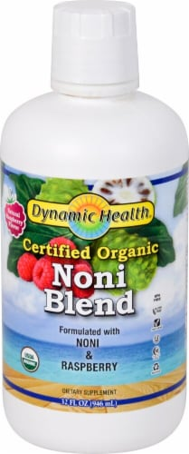 Dynamic Health  Organic Noni Blend   Natural Raspberry Perspective: front