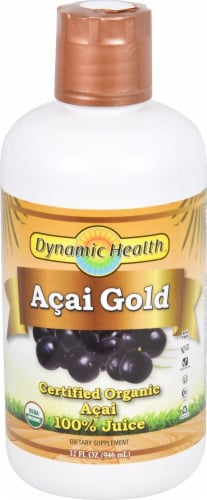 Dynamic Health Organic Acai Gold Juice Perspective: front