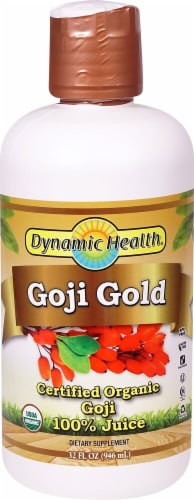 Dynamic Health Goji Gold Certified Organic Goji 100% Juice Perspective: front