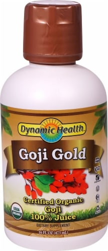 Dynamic Health Organic Goji Gold 100% Juice Perspective: front
