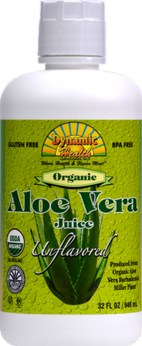 Dynamic Health Unflavored Organic Aloe Vera Juice Perspective: front