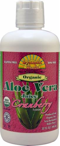 Dynamic Health Organic Cranberry Flavor Aloe Vera Juice Perspective: front