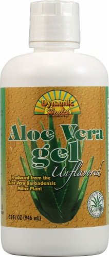Dynamic Health Unflavored Aloe Vera Gel Perspective: front