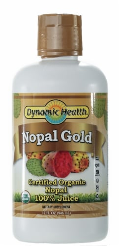 Dynamic Health Organic Nopal Gold Juice Perspective: front