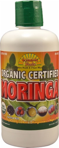 Dynamic Health  Certified Organic Moringa Blend Perspective: front