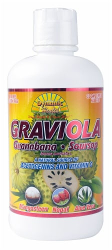 Dynamic Health Graviola Liquid with Guanabana & Soursop Perspective: front