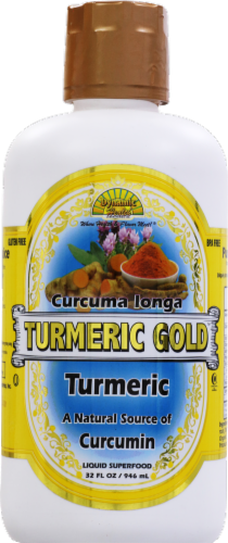 Dynamic Health Turmeric Gold Juice Perspective: front