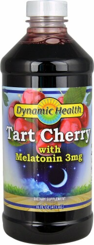 Dynamic Health Tart Cherry Juice with Melatonin 3mg Perspective: front