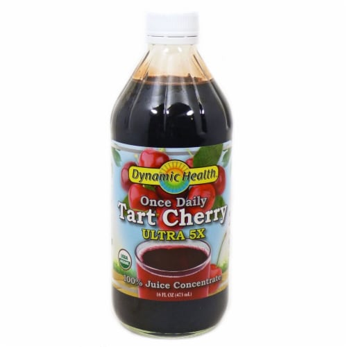 Dynamic Health Organic Tart Cherry Ultra 5X Juice Concentrate Perspective: front
