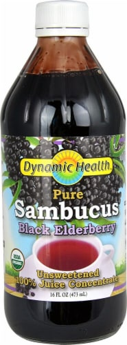 Dynamic Health  Pure Sambucus Black Elderberry Perspective: front