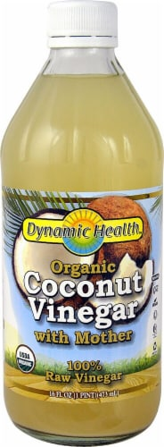 Dynamic Health Organic Coconut Vinegar with Mother Perspective: front
