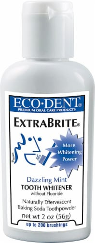 Eco-dent  Extrabrite Baking Soda Toothpowder   Dazzling Mint Perspective: front