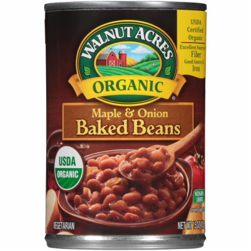 Walnut Acres Organic Maple & Onion Baked Beans Perspective: front