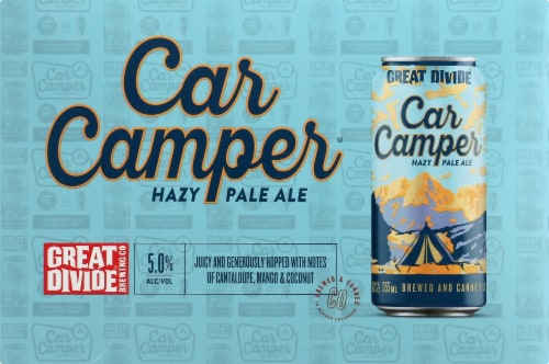 Great Divide Brewing Co. Car Camper Hazy Pale Ale Perspective: front