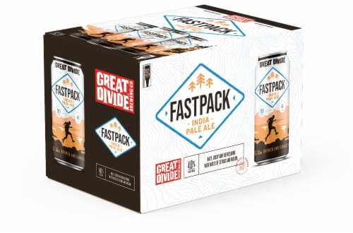 Great Divide Brewing Co. Fastpack IPA Perspective: front