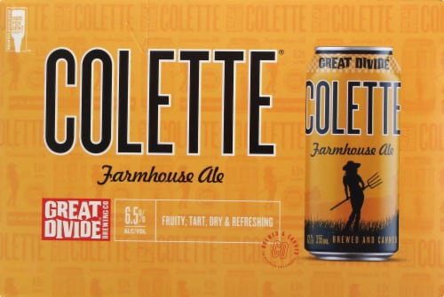 Great Divide Brewing Co. Colette Farmhouse Ale Perspective: front