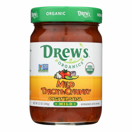 Drew's Organic Thick & Chunky Mild Salsa Perspective: front