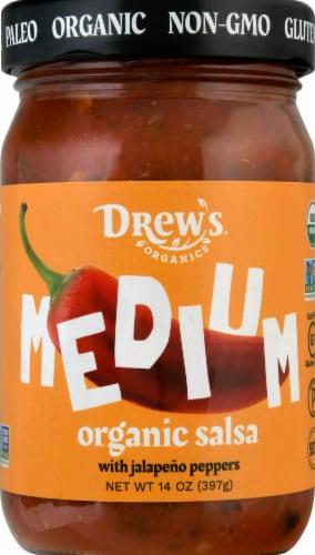 Drew's Organics Medium Salsa Perspective: front