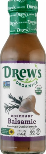 Drew's Organics Rosemary Balsamic Dressing Perspective: front