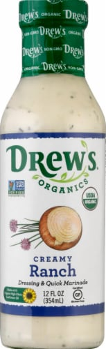 Drew's Organics Creamy Ranch Dressing Perspective: front