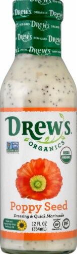 Drew's Organics Poppy Seed Dressing Perspective: front