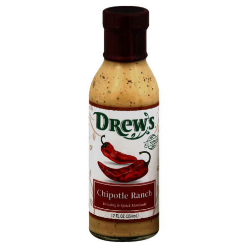 Drew's Organics Chipotle Ranch Dressing Perspective: front
