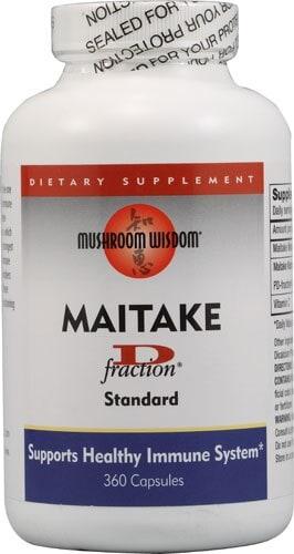 Mushroom Wisdom  Maitake D-Fraction Perspective: front
