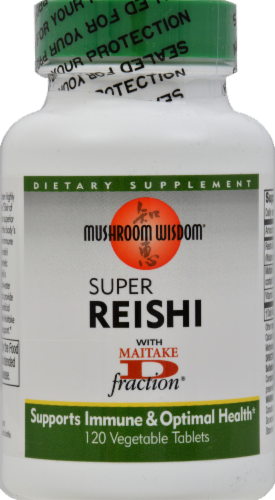Mushroom Wisdom Super Reishi Vegetable Tablets Perspective: front