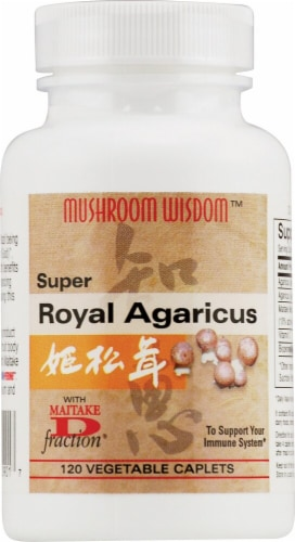 Mushroom Wisdom  Super Royal Agaricus Perspective: front