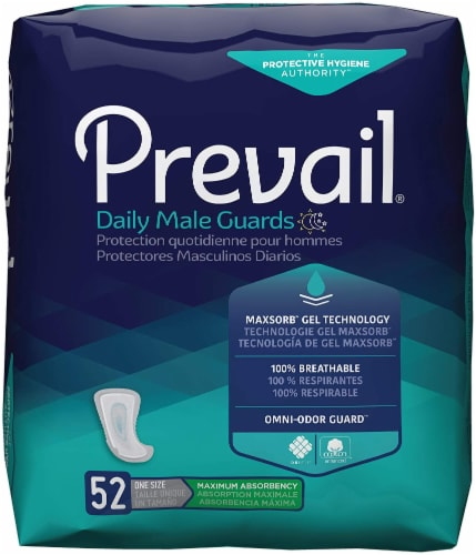 Prevail Guards for Men, Case/208 (4/52s) Perspective: front